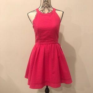 Lauren James Abigail Raspberry Pink Dress $128